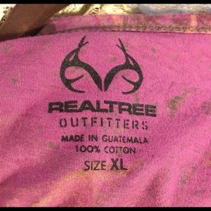 Realtree Tops - Realtree Outfitters Cotton Mauve Camouflage Tee